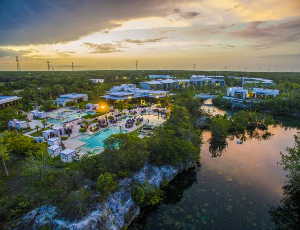 Andaz-Mayakoba-Lagoon-Pool-Night-Venue