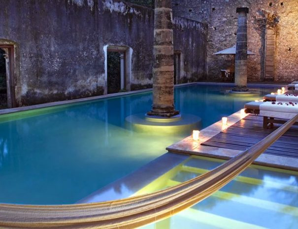 Hacienda-Uayamon-exterior-pool-hammock-mayan-architecture