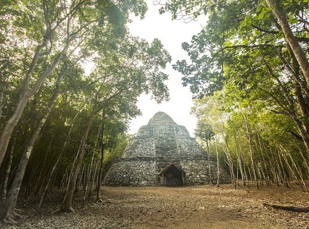 Mexico,Playa del Carmen,The Mayan ruin of Xaibe in Coba. Getty Images # 150084501